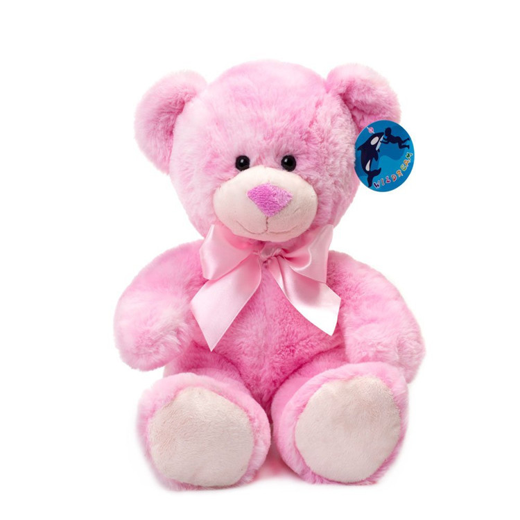 High quality wholesale promotional <strong>plush</strong> stuffed colorful christmas valentine 25cm <strong>plush</strong> pink teddy bear toy to girlfriend