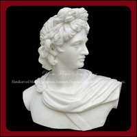 Indoor Decorative Apollo Marble Busts For Sale