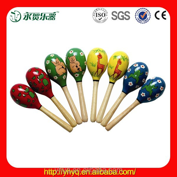 Chinese Custom Maracas with Beatiful Animal Picture