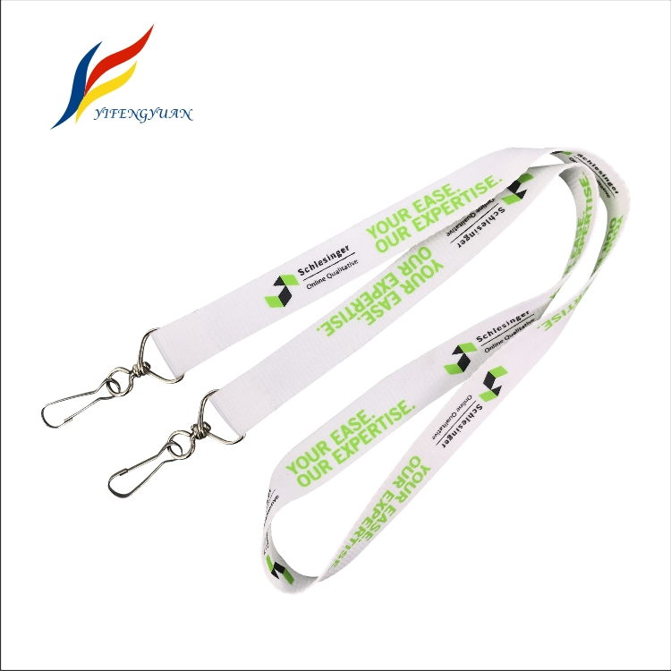 YIFY Promotional Stock Color Black ID Holder Custom Logo Design Printed Branded Advertising Hot Flat Polyester Lanyard