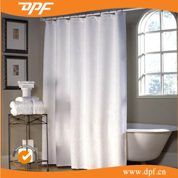 Beautiful made linen fabric breathable shower curtain