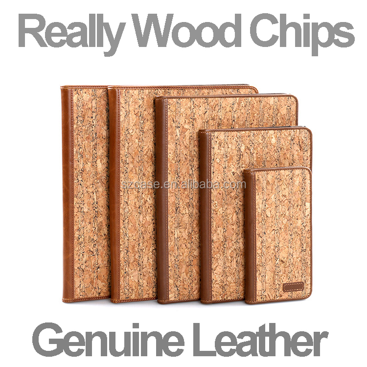 Original Wood Chips Genuine Leather Hard PC Phone Back Cover Case for Iphone 6 7 Plus 6plus case for ipad mini 3 4