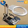 KJ275 LED LIGHT Soldering Iron Stand Clamp Clip Helping Hand Magnifying Circuit Board Solder Welding Repair Tools