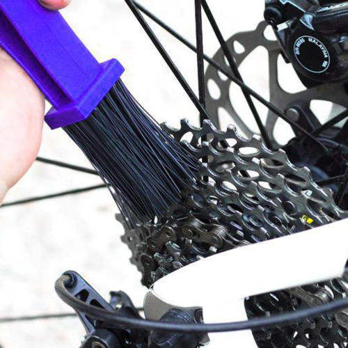 Motorcycle Cycling Bicycle Chain Wheel Cleaner Tool Cleaning Brushes Scrubber