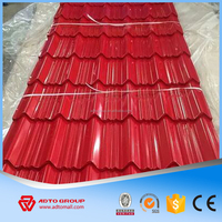 whole sale 40~275g zinc coating corrugated steel roofing
