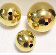 High polished copper hollow sphere big hollow brass ball for decoration