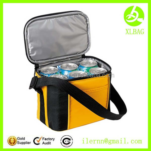 2017 Foldable Insulated 600d Polyester Lunch Cooler Bag with bottle holder