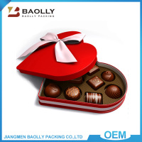 2016 Quality custom empty heart shaped fancy chocolate box for wedding invitation