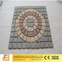Natural Cheap Granite Mesh Cobblestone Pavers