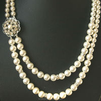 Pearl Bridal Necklace Vintage Wedding Jewelry Art Deco Wedding Necklace Pearl Necklace