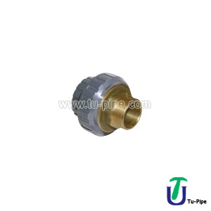 UPVC Solvent Cement Socketed Brass male Threaded Union