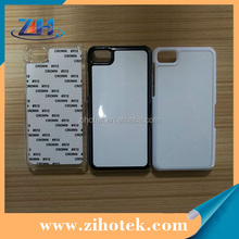 Blank sublimation cases for Blackberry Z10 with sublimation aluminum inserts