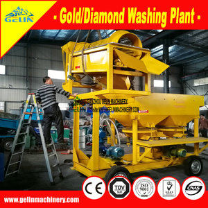 GELIN alluvial mining machine mobile gold & diamond washing plant