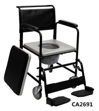 FDA approved toilet commode chair wheelchair with wheel with toilet