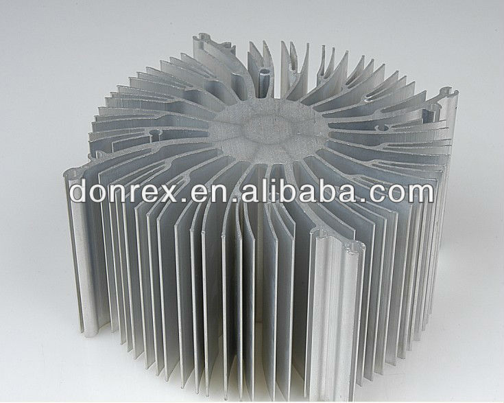LED anodizing aluminum heatsink in round shape