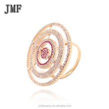 wholesale silver jewelry O rings 925 sterling silver antique cubic zircon stackable Ring in colorful with ruby circle ring