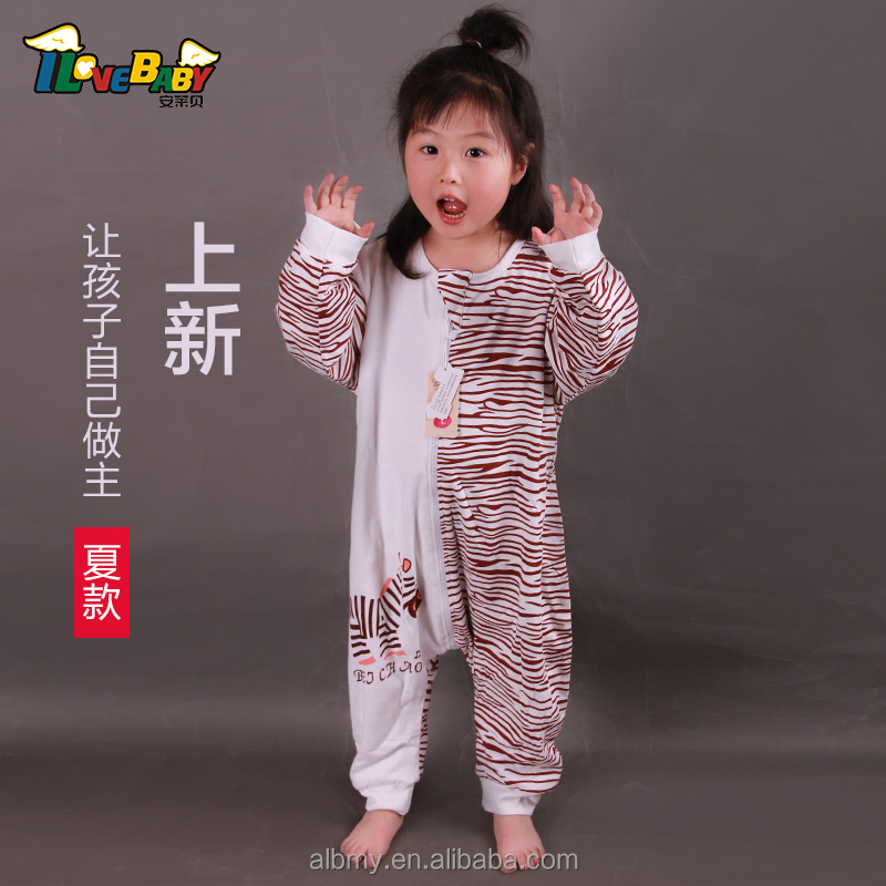 100% cotton good breathable legs apart baby sleeping bag