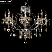 11 Years Lighting Manufacturer Chrome Color Modern Chandelier Crystals MD10098