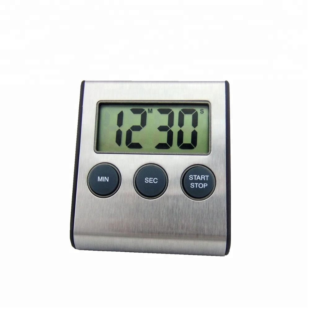 Hot Sell Digital Magnetic Kitchen Countdown <strong>Timer</strong> in ABS Plastic and Stainless Steel Material