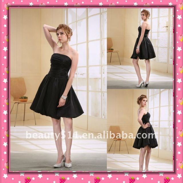 Astergarden Taffeta Knee Length Whole Sale Bridesmaid Dress D0007-2