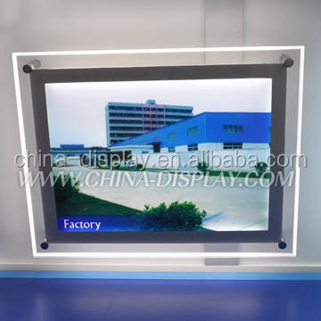 Popular Plastic Product Backlit acrylic display panel portable backlit signs acrylic magnetic led light box