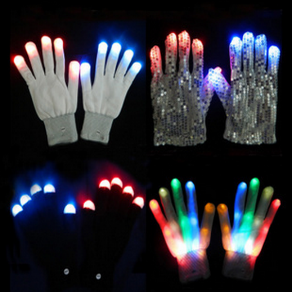 custom party glove with led glove with led lighting