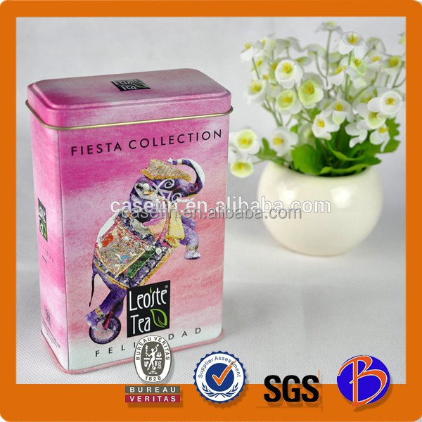 China made good quality and popular design of import tea can