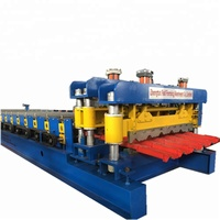 glazed tile roll forming machine,metal roofing tiles making machine for building material machinery