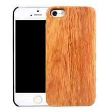 Sapele wood mobile phone shell back cover for iPhone 5 PC bottom real wooden case