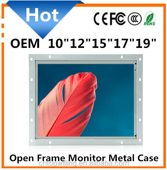 "OEM Monitors 12"" square touch screen open frame lcd monitor"