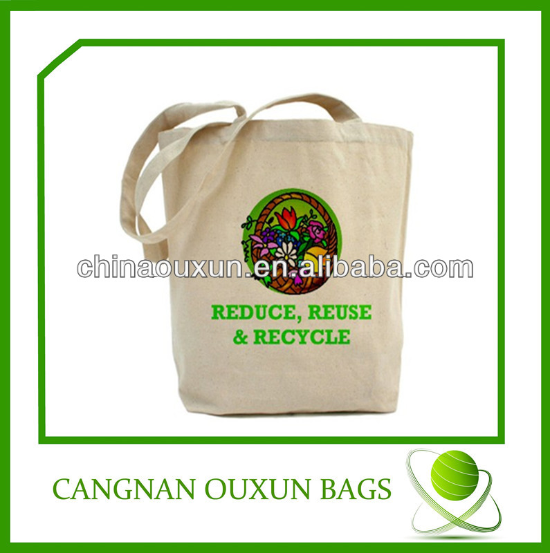 high quality durable natural recycled cotton canvas tote bags