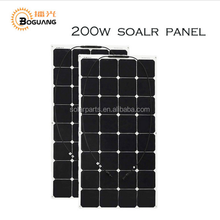100W flexible 12V thin film trina solar panel price kits boat RV solar module for car/RV/boat battery charger