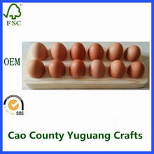 wooden egg holder shatter-proof protection egg storage tray quail egg tray