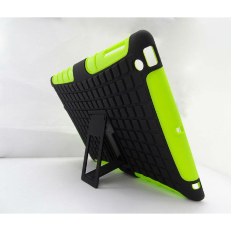 For iPad 2/3/4 PC Silicone Robot Hard Cover Stand Case P-iPAD3CASE067