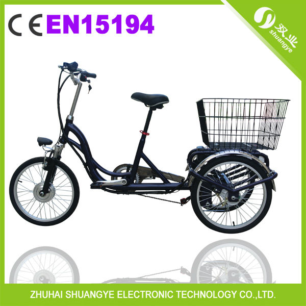 20 inch aluminum alloy three wheel electric bicycle tricycles