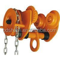 Alloy steel/carbon steel drop forged lifting hoist GCL series Hands push monorail car