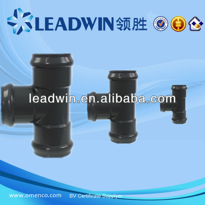 popular pvc pipe fittings 90 degree equal tee with Flexible joint