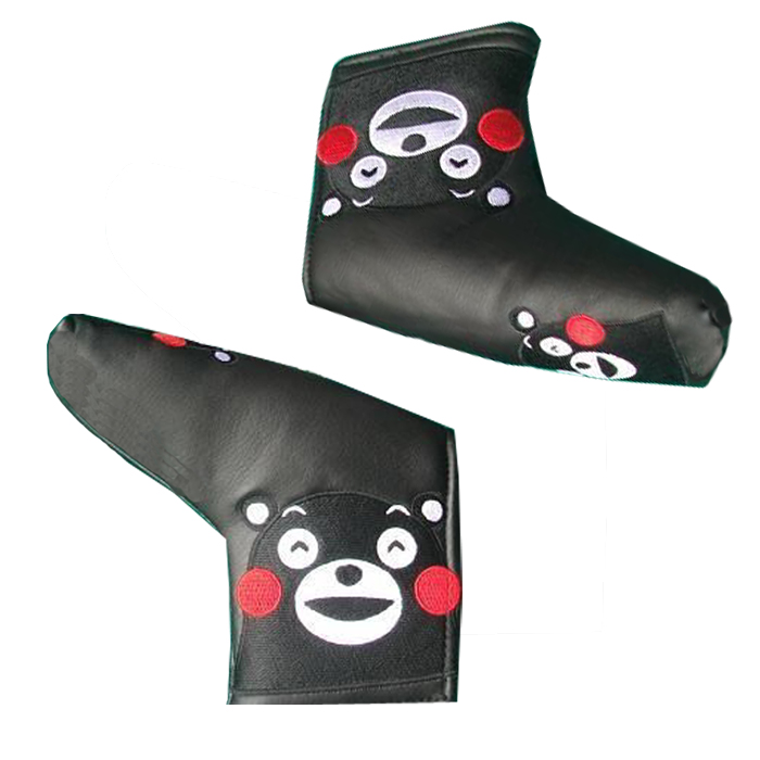 embroidery Pu leather blade putter head cover