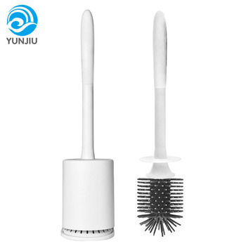 New product  brief no dead end no punching cleaning household handheld silicone toilet brush
