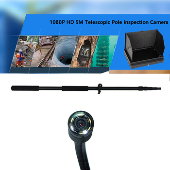 5m or 7.5m telescopic camera mast pole 1080P waterproof search-and-rescue inspection camera system with 7inch monitor
