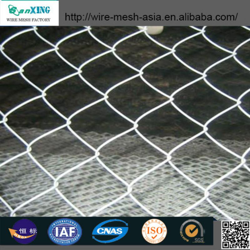 China supplier Sanxing high quality cheap temporary PVC fencing chain link fence for sale