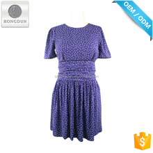 High quality newest fashion blue pretty simply lady fashion dress
