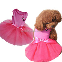 2016 Wholesale lovely pet clothes dog wedding dress IPET-PC15