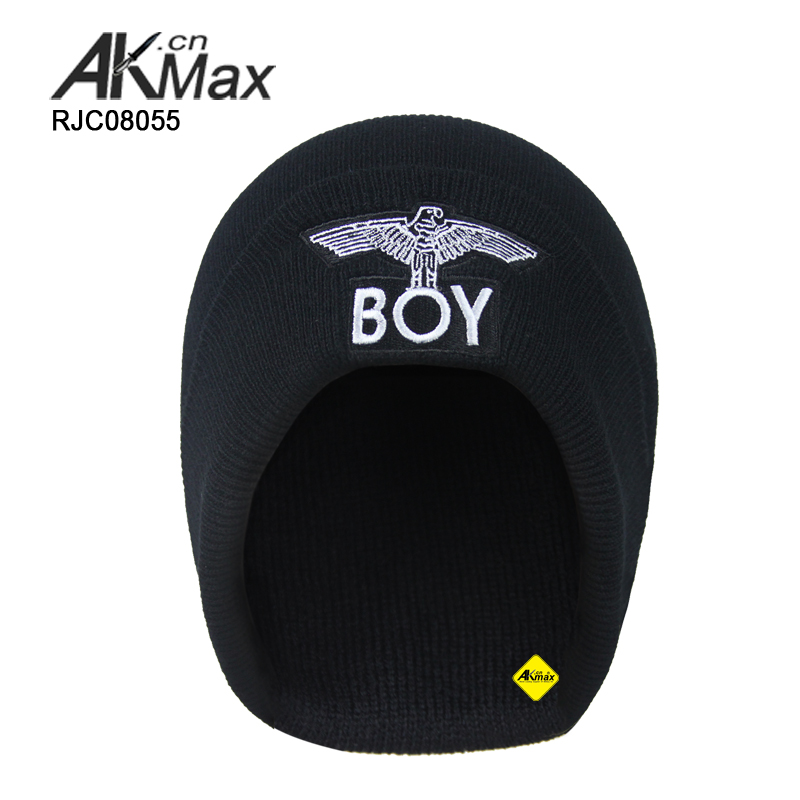 100% Acrylic military muslim knitted caps