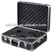 black abs panel briefcase with large cr-plated handle