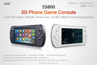 "5 inch JXD S5800 3G MTK6582 Phone Call Tablet Video Game Console Quad Core Android 4.2 1GB/8G 5"" IPS WIFI game smartphone."