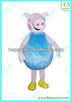 HI CE cute adult curious george costume,curious george mascot costume,george pig costuem