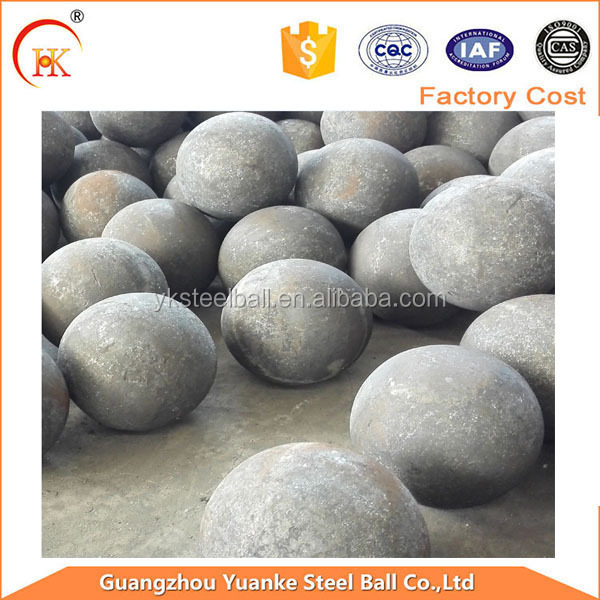 Anti-breakage 40mm casting iron forged middle solid balls for mine plant