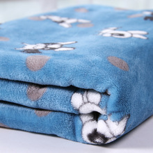 100% polyester microfiber Dog Printed Flannel Fleece fabric for kid's blanket