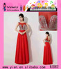 Wholesale Fashion Design Red Sexy Formal Beaded Evening Dress Latest Elegant Sleeveless Red Sexy Formal Beaded Evening Dress